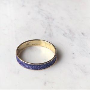 GiGi New York Stingray Blue Leather & Gold Bangle